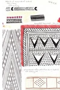 Art Deco sketchbook - African design