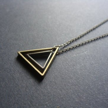 Silver brass triangle necklace - AptoArt