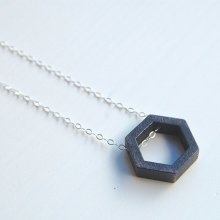 Hexagon: 3D printed necklace - LanaBetty