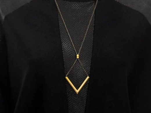 Chevron necklace - BazkBerlin