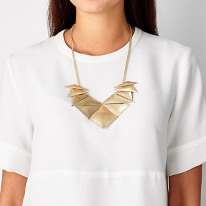 John Lewis abstract fan necklace