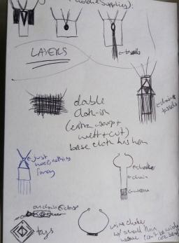 Ideas sketchbook - jewellery designs